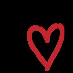 Pegatina de dos corazones