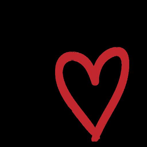 Pegatina de dos corazones Transparent PNG