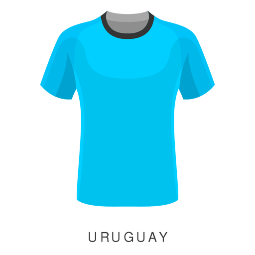 Desenhos animados da camisa do futebol do campeonato do mundo de Uruguai Transparent PNG