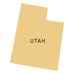 Utah state plain map