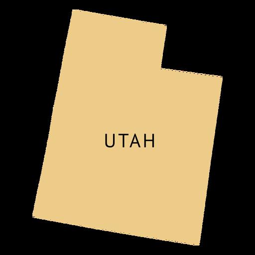 Mapa llano del estado de Utah