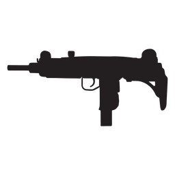 Uzi submachine gun grey silhouette