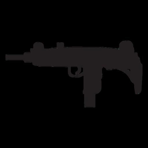Uzi submachine gun grey silhouette Transparent PNG