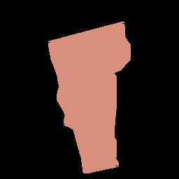 Mapa llano del estado de Vermont