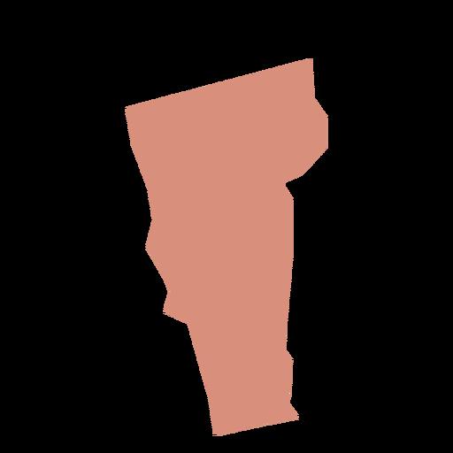 Mapa llano del estado de Vermont Transparent PNG