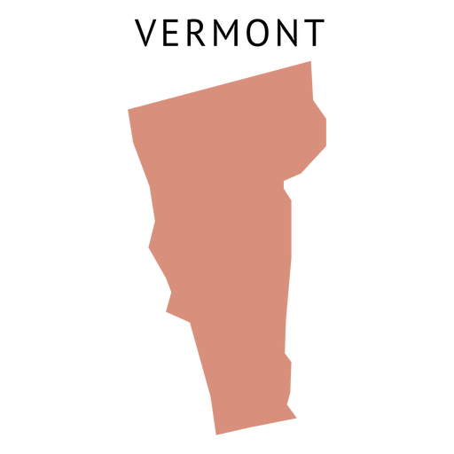 Vermont state plain map Transparent PNG