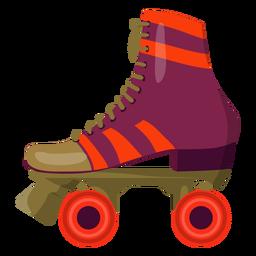 Sapato de patins em rolo violeta