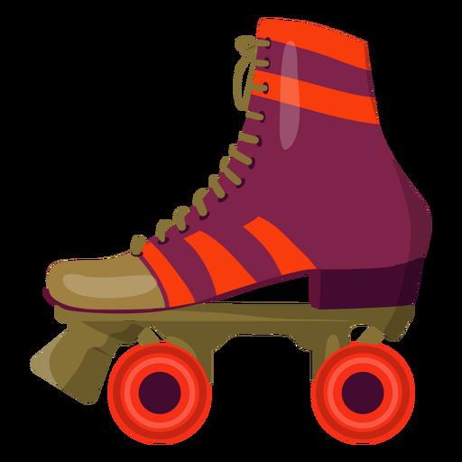Violet roller skate shoe Transparent PNG