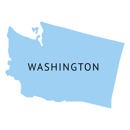 Mapa llano del estado de washington