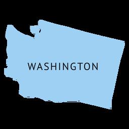 Mapa plano do estado de Washington