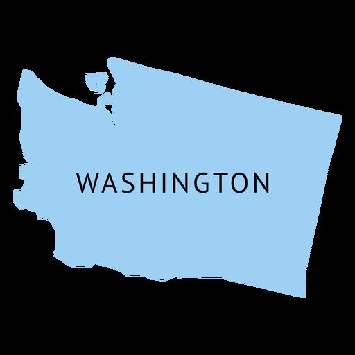 Washington state plain map Transparent PNG
