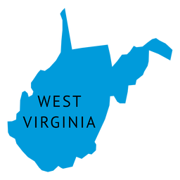 West virginia state plain map