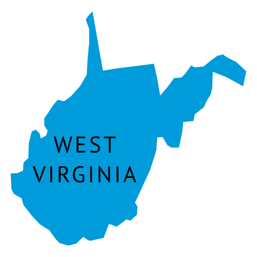 Mapa llano del estado de Virginia Occidental Transparent PNG
