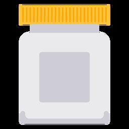 Icono de frasco de pastillas blanco
