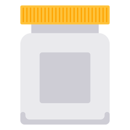 White pill bottle icon