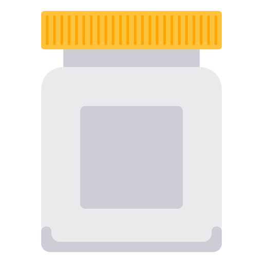 White pill bottle icon Transparent PNG