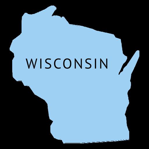Mapa llano del estado de Wisconsin