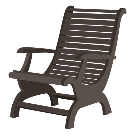 Wooden adirondack chair - Transparent PNG & SVG vector