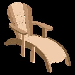 Wooden adirondack sun lounger