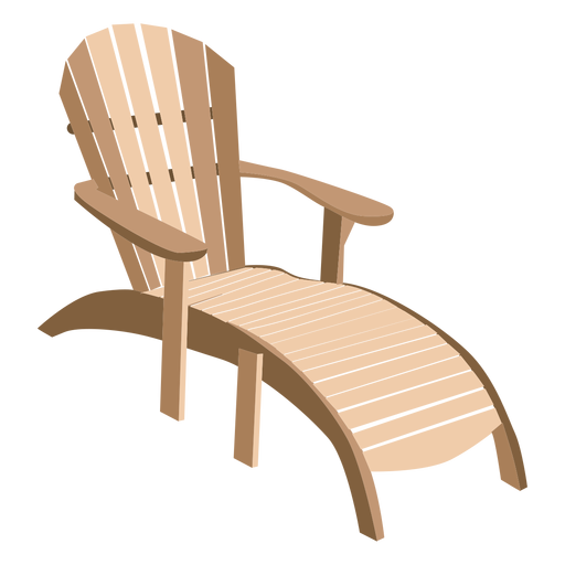 Wooden adirondack sun lounger Transparent PNG