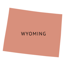 Wyoming state plain map