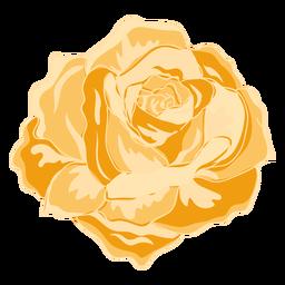 Icono rosa floreciente amarillo