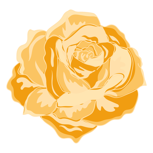 Yellow blooming rose icon - Transparent PNG & SVG vector