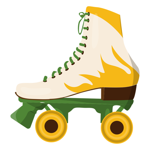 Yellow fire roller skate shoe Transparent PNG