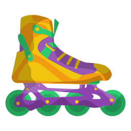 Yellow roller skate shoe