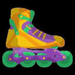 Zapato patín de ruedas amarillo