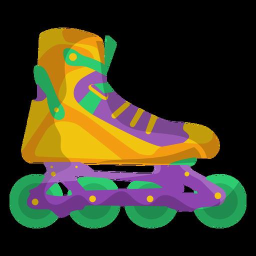 Sapato de skate amarelo Transparent PNG