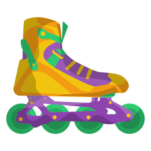 Yellow roller skate shoe Transparent PNG