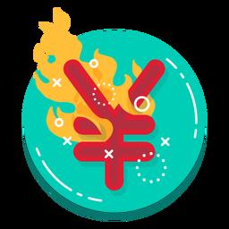 Icono de tasa de quemaduras Yuan