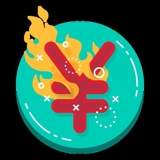 Icono de tasa de quemaduras Yuan Transparent PNG