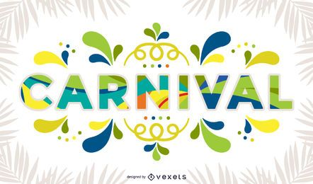 Placa colorida de carnaval