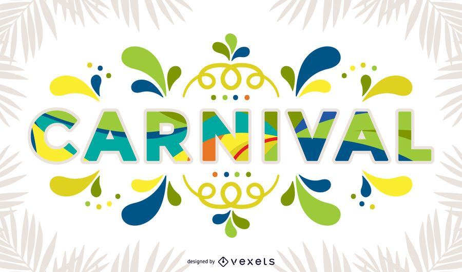 Signo de carnaval colorido