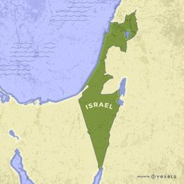 Israel map with neighboring lands