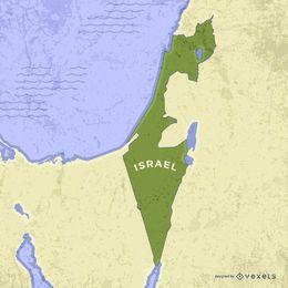 Mapa de Israel com terras vizinhas