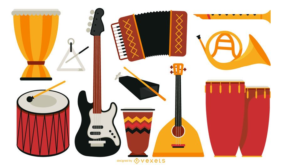 Flat musical instrument collection