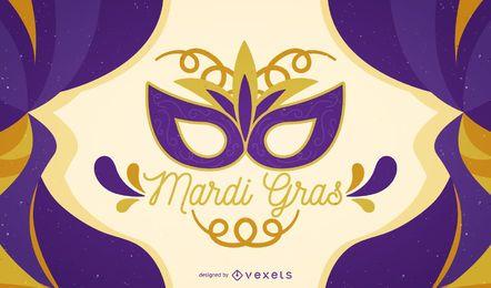 Cartel de carnaval de Mardi Gras