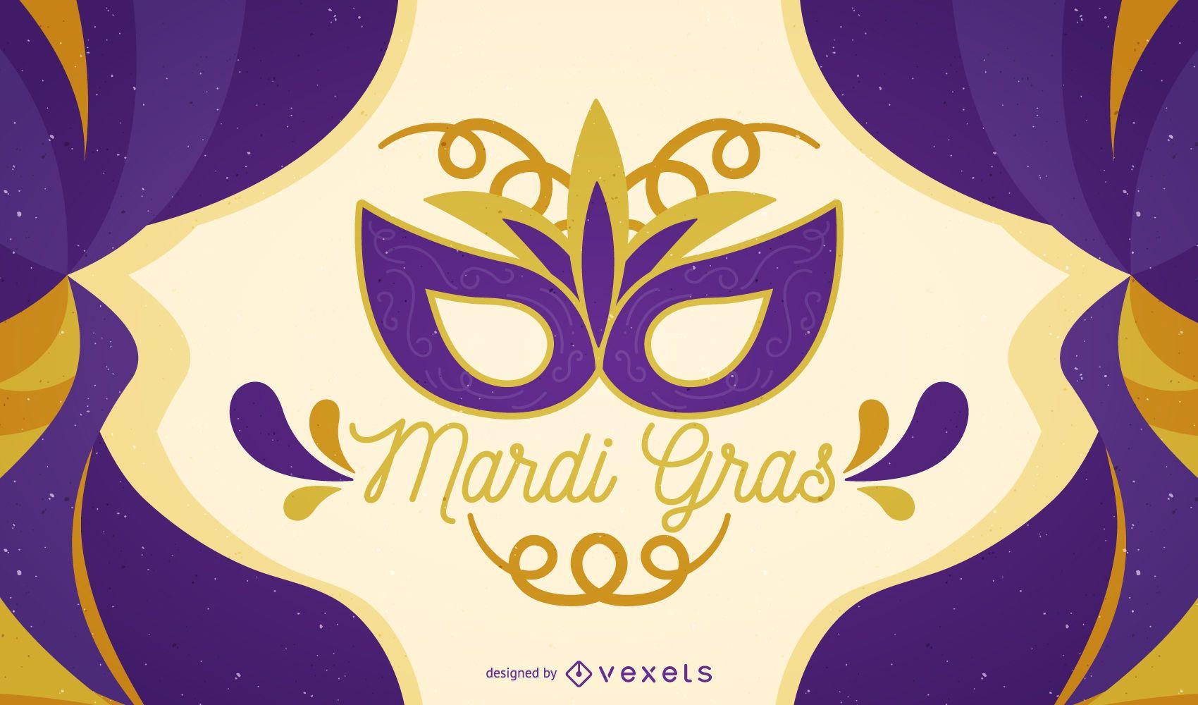 Pôster do carnaval Mardi Gras