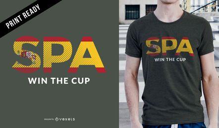 T-shirt da Espanha do copo de Rússia