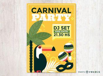 Carnaval fiesta de diseño del cartel.