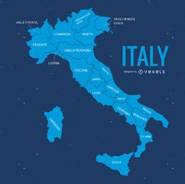 Italy map silhouette