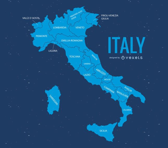 Italy map illustration