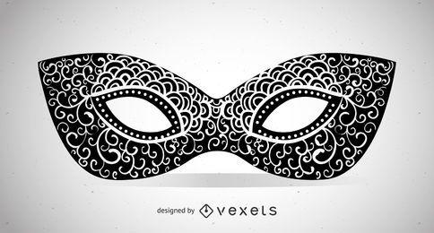 Swirly Maskeradeschablonenabbildung