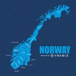 Norway silhouette map