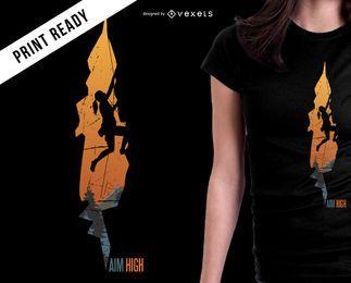 Aim high mountain t-shirt design