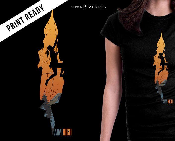 Diseño de camiseta de alta montaña Aim