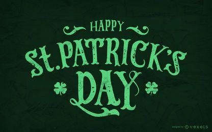 Letras do dia do St. Patrick feliz